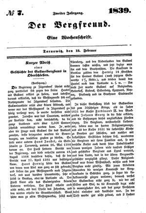 ˜Derœ Bergfreund vom 15.02.1839