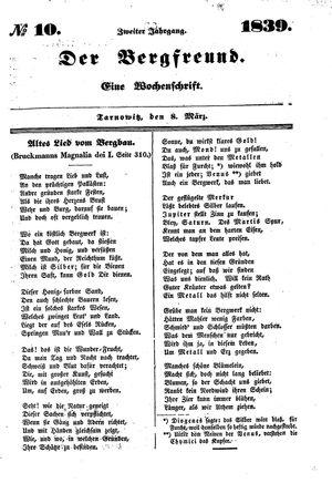 ˜Derœ Bergfreund vom 08.03.1839