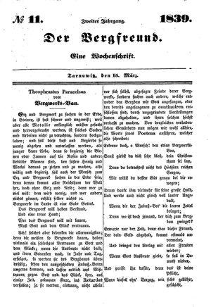 ˜Derœ Bergfreund vom 15.03.1839