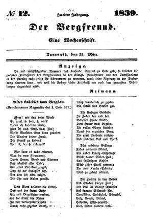 ˜Derœ Bergfreund vom 22.03.1839