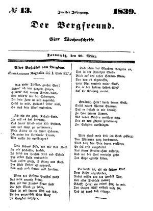 ˜Derœ Bergfreund vom 29.03.1839
