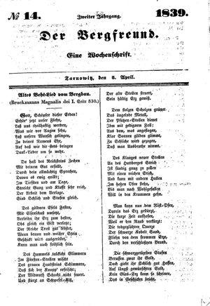 ˜Derœ Bergfreund vom 05.04.1839