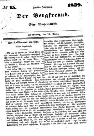 ˜Derœ Bergfreund vom 12.04.1839