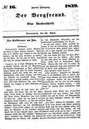 ˜Derœ Bergfreund vom 19.04.1839