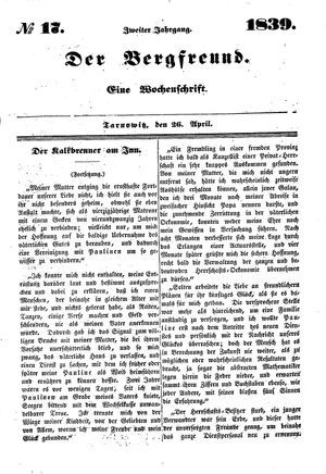 ˜Derœ Bergfreund vom 26.04.1839