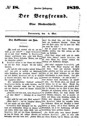 ˜Derœ Bergfreund vom 03.05.1839