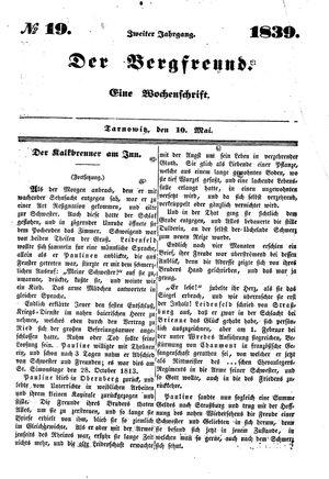 ˜Derœ Bergfreund vom 10.05.1839