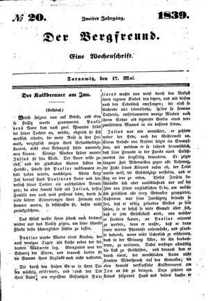 ˜Derœ Bergfreund vom 17.05.1839