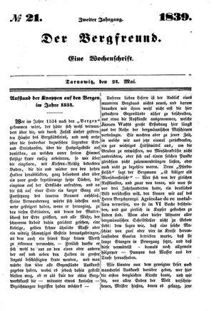 ˜Derœ Bergfreund vom 24.05.1839