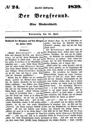 ˜Derœ Bergfreund vom 14.06.1839