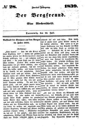 ˜Derœ Bergfreund vom 12.07.1839