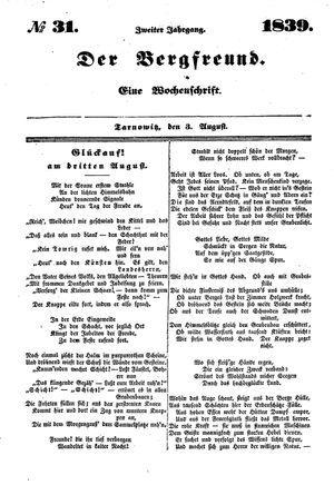 ˜Derœ Bergfreund vom 03.08.1839