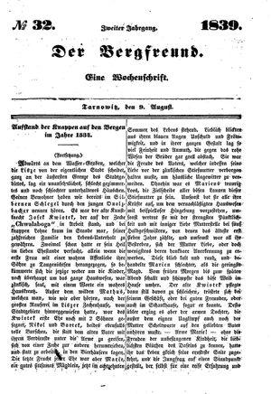 ˜Derœ Bergfreund vom 09.08.1839