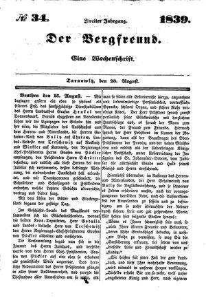 ˜Derœ Bergfreund vom 23.08.1839