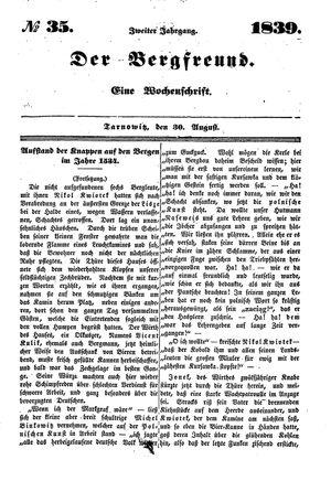˜Derœ Bergfreund vom 30.08.1839