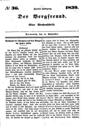 ˜Derœ Bergfreund vom 06.09.1839
