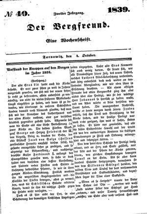 ˜Derœ Bergfreund vom 04.10.1839