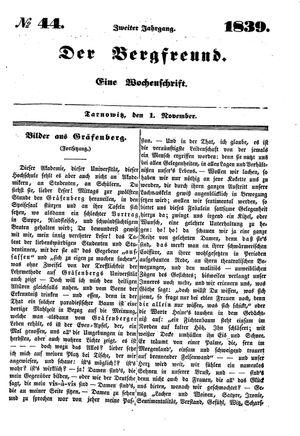 ˜Derœ Bergfreund vom 01.11.1839