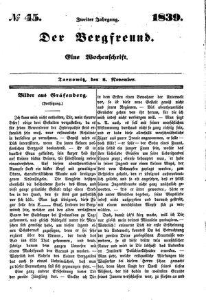 ˜Derœ Bergfreund vom 08.11.1839