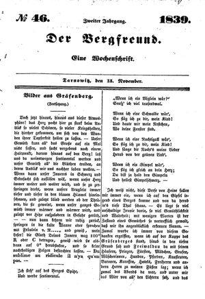 ˜Derœ Bergfreund vom 15.11.1839