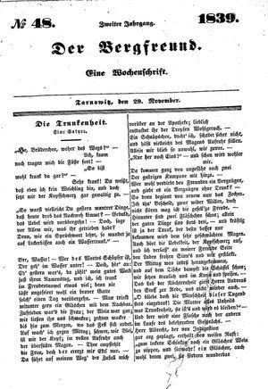 ˜Derœ Bergfreund vom 29.11.1839