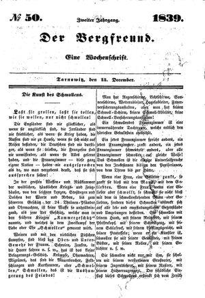 ˜Derœ Bergfreund vom 13.12.1839