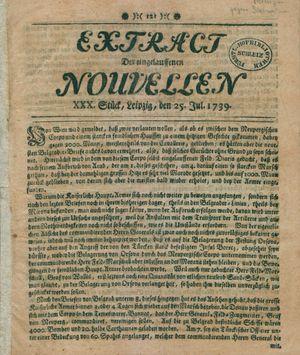 Extract der eingelauffenen Nouvellen vom 25.07.1739