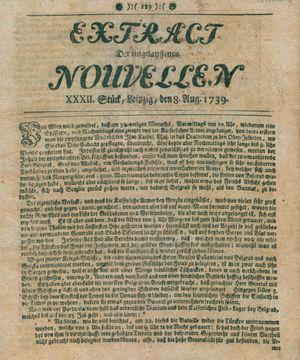 Extract der eingelauffenen Nouvellen vom 08.08.1739