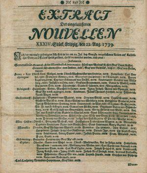 Extract der eingelauffenen Nouvellen vom 22.08.1739