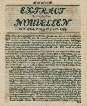 Extract der eingelauffenen Nouvellen vom 05.12.1739