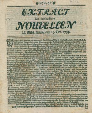 Extract der eingelauffenen Nouvellen vom 19.12.1739