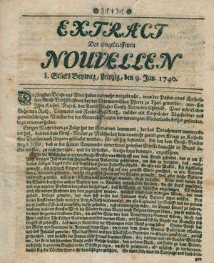 Extract der eingelauffenen Nouvellen vom 09.01.1740