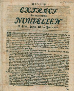 Extract der eingelauffenen Nouvellen vom 16.01.1740