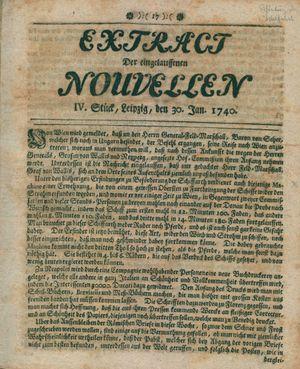 Extract der eingelauffenen Nouvellen vom 30.01.1740