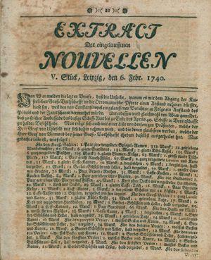 Extract der eingelauffenen Nouvellen vom 06.02.1740