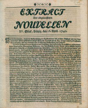 Extract der eingelauffenen Nouvellen vom 16.04.1740