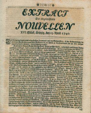 Extract der eingelauffenen Nouvellen vom 23.04.1740