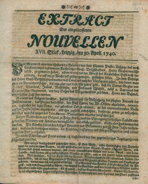 Extract der eingelauffenen Nouvellen vom 30.04.1740