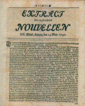 Extract der eingelauffenen Nouvellen vom 14.05.1740