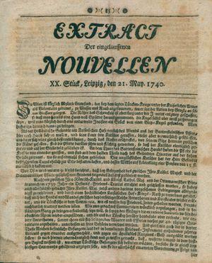 Extract der eingelauffenen Nouvellen vom 21.05.1740