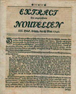 Extract der eingelauffenen Nouvellen vom 28.05.1740