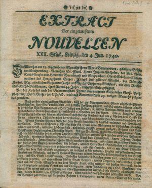 Extract der eingelauffenen Nouvellen vom 04.06.1740