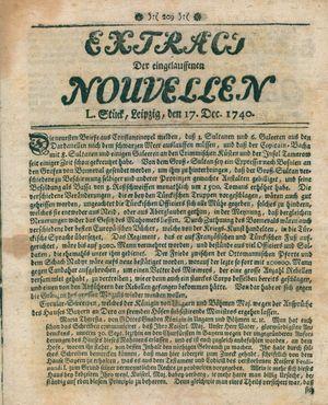 Extract der eingelauffenen Nouvellen vom 17.12.1740