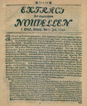 Extract der eingelauffenen Nouvellen vom 07.01.1741