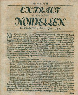 Extract der eingelauffenen Nouvellen vom 21.01.1741