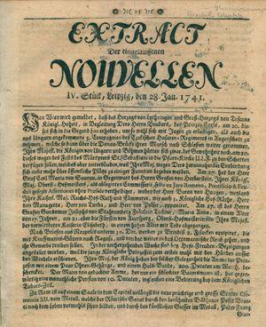 Extract der eingelauffenen Nouvellen vom 28.01.1741