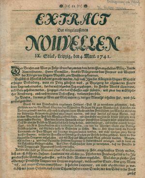 Extract der eingelauffenen Nouvellen vom 04.03.1741