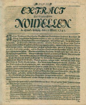 Extract der eingelauffenen Nouvellen vom 11.03.1741