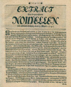 Extract der eingelauffenen Nouvellen vom 25.03.1741