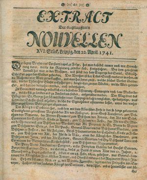 Extract der eingelauffenen Nouvellen on Apr 22, 1741